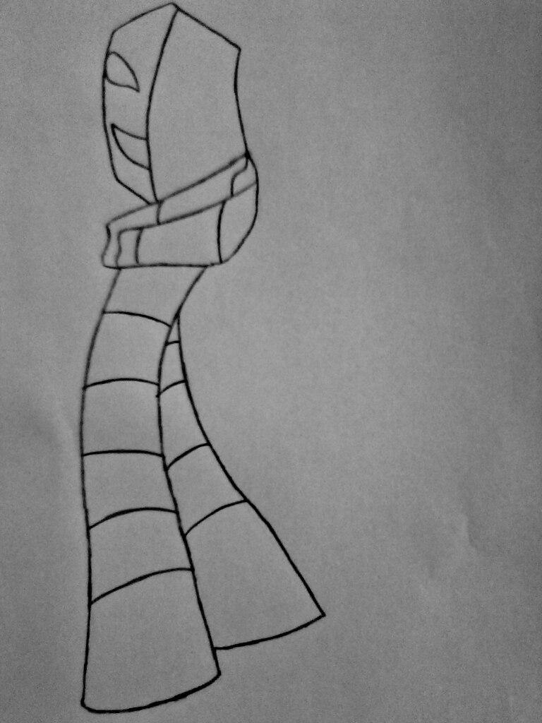 Как нарисовать КагеКао из крипипасты карандашом поэтапно - шаг 3