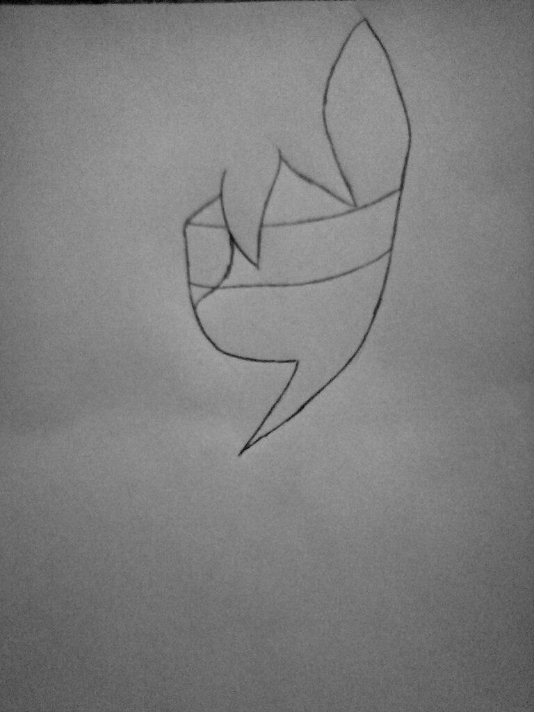 Как нарисовать Клокворк в виде пони карандашом поэтапно - шаг 1