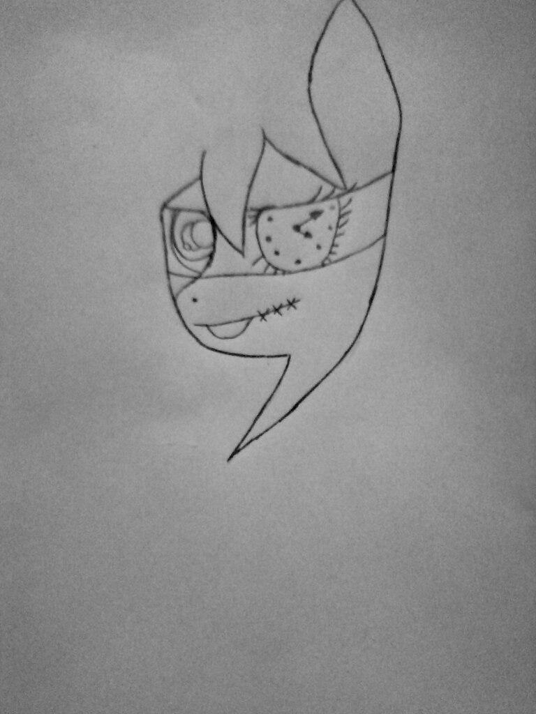 Как нарисовать Клокворк в виде пони карандашом поэтапно - шаг 2