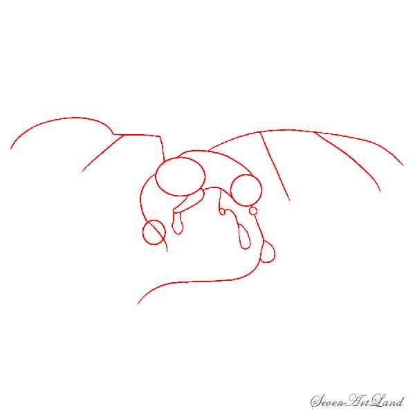 Рисуем лазурного дракона