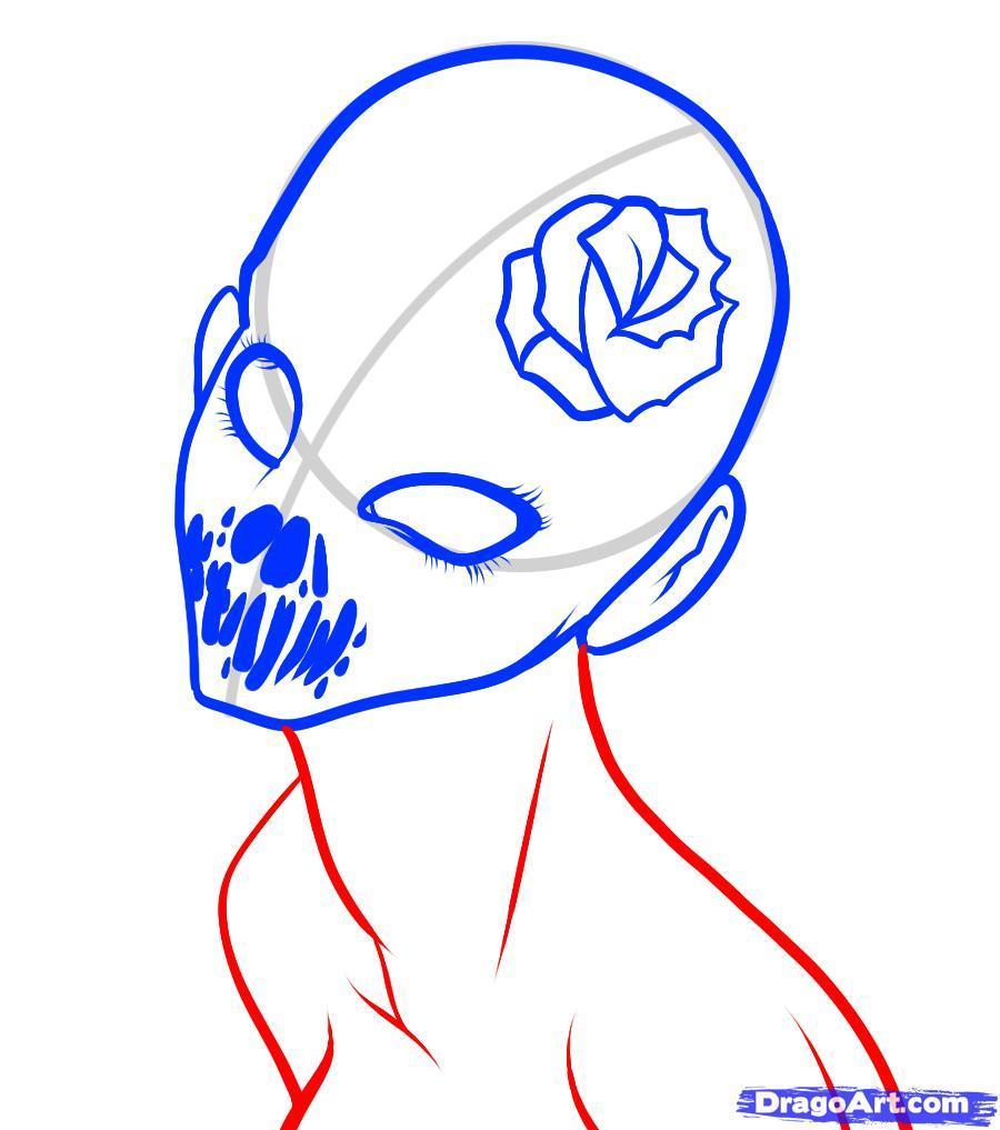 Рисуем лицо демона
