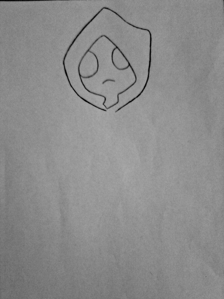 Как нарисовать маленького Худи из крипипасты поэтапно - шаг 2