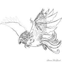Фото Небесного Феникса карандашом