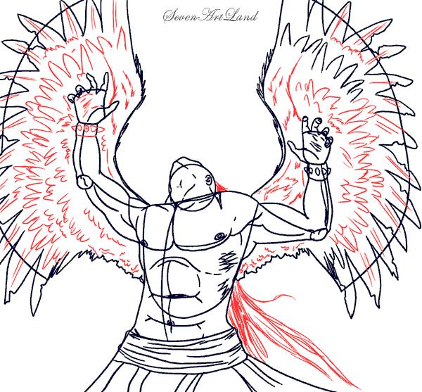 Что нарисовать падшего ангела карандашом