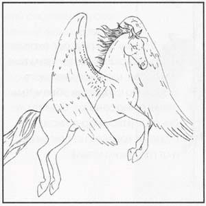 Рисуем Пегаса в момент прыжка - шаг 4