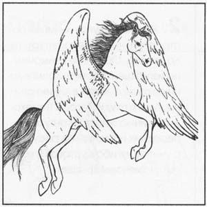 Рисуем Пегаса в момент прыжка - шаг 5
