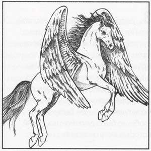 Рисуем Пегаса в момент прыжка - шаг 6