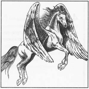 Рисуем Пегаса в момент прыжка - шаг 7