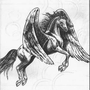 Рисуем Пегаса в момент прыжка - шаг 8