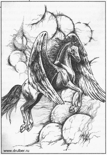 Рисуем Пегаса в момент прыжка - шаг 9
