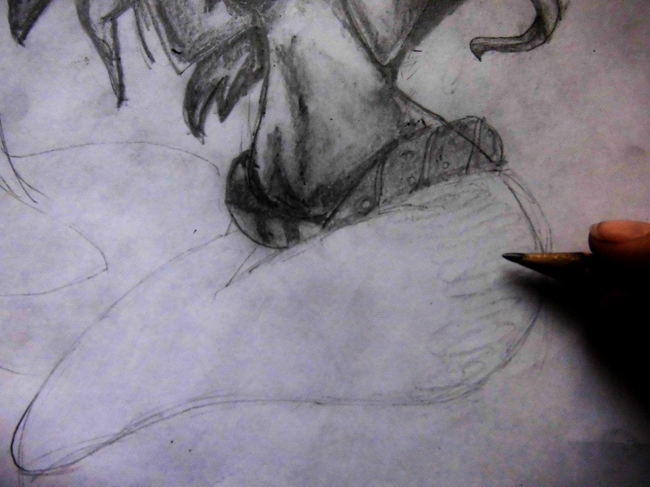 Рисуем милую Ариэль  на бумаге - шаг 13