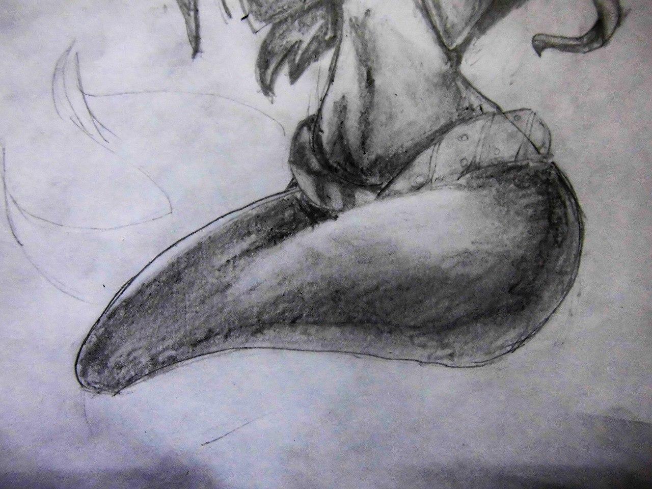 Рисуем милую Ариэль  на бумаге - шаг 14