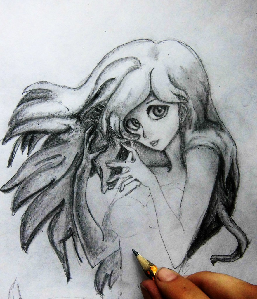 Рисуем милую Ариэль  на бумаге - шаг 9