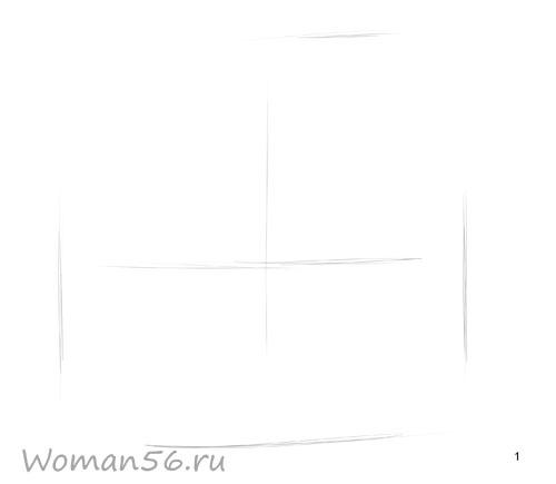 Рисуем русалку - шаг 1