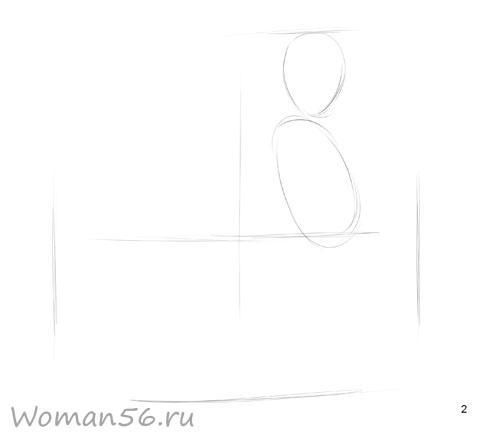 Рисуем русалку - шаг 2