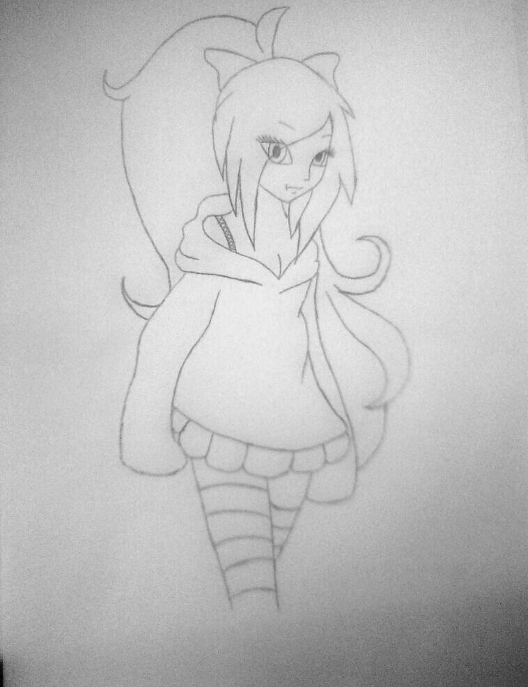 Рисуем симпатичную Нину убийцу из крипипасты - фото 11