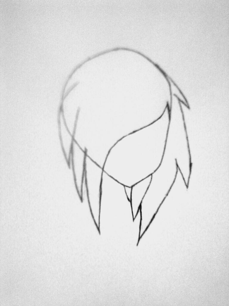 Рисуем симпатичную Нину убийцу из крипипасты - шаг 2