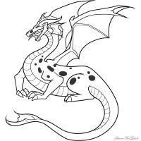 Синего Дракона карандашом