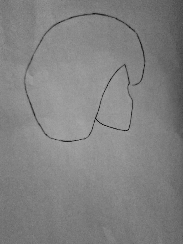 Как нарисовать Смеющегося Джека из крипипасты поэтапно - шаг 1