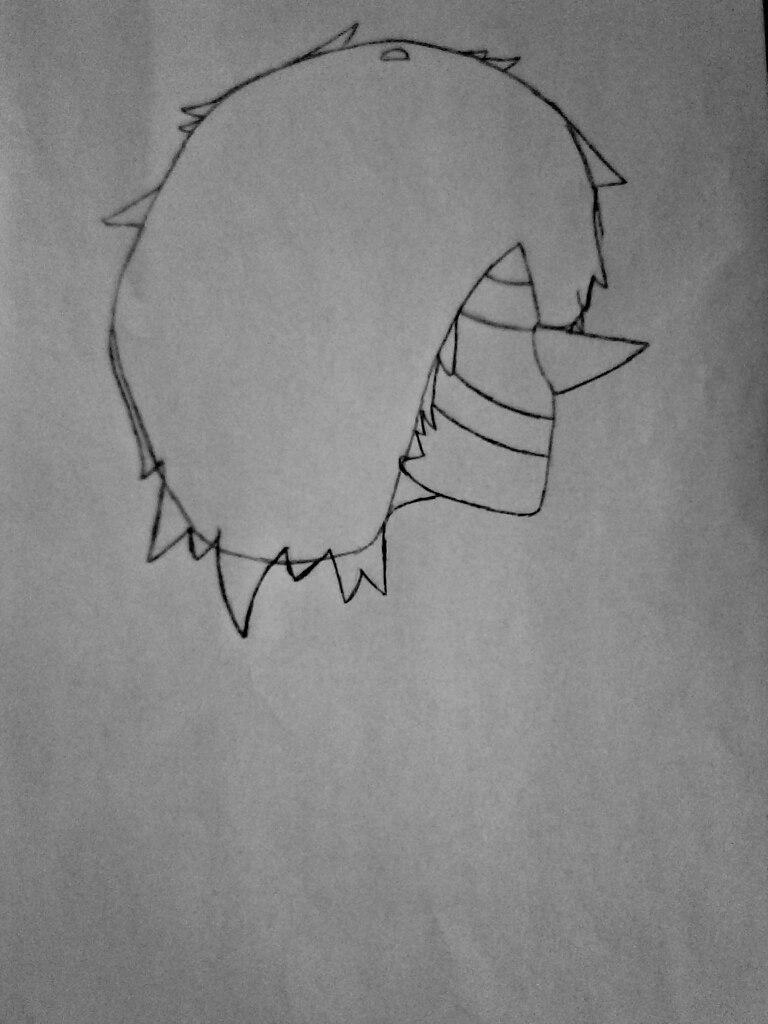 Как нарисовать Смеющегося Джека из крипипасты поэтапно - шаг 2