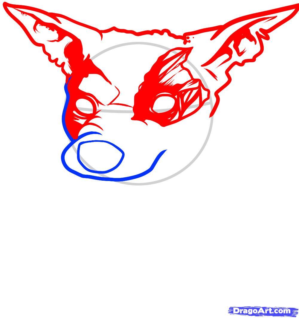 Как нарисовать Собаку зомби карандашом поэтапно