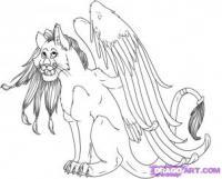 Рисунок тигра-фею