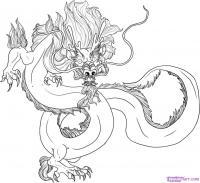 Как нарисовать традиционного Китайского Дракона поэтапно