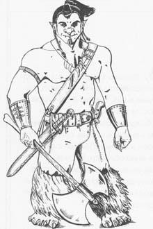 Как нарисовать Тролль с топором в руках карандашом поэтапно