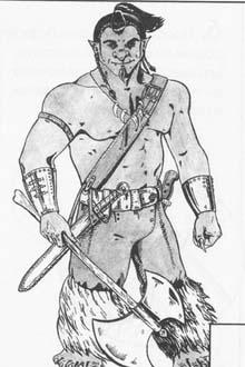 Рисуем Тролль с топором в руках