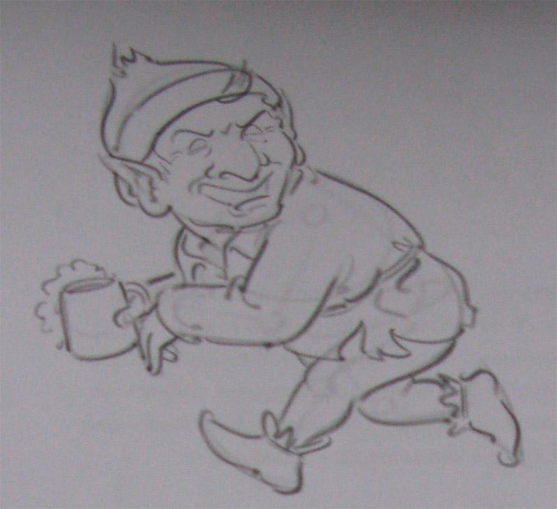 Рисуем убегающего Гоблина