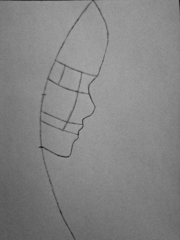 Как нарисовать убийцу Джейн карандашом поэтапно - шаг 2