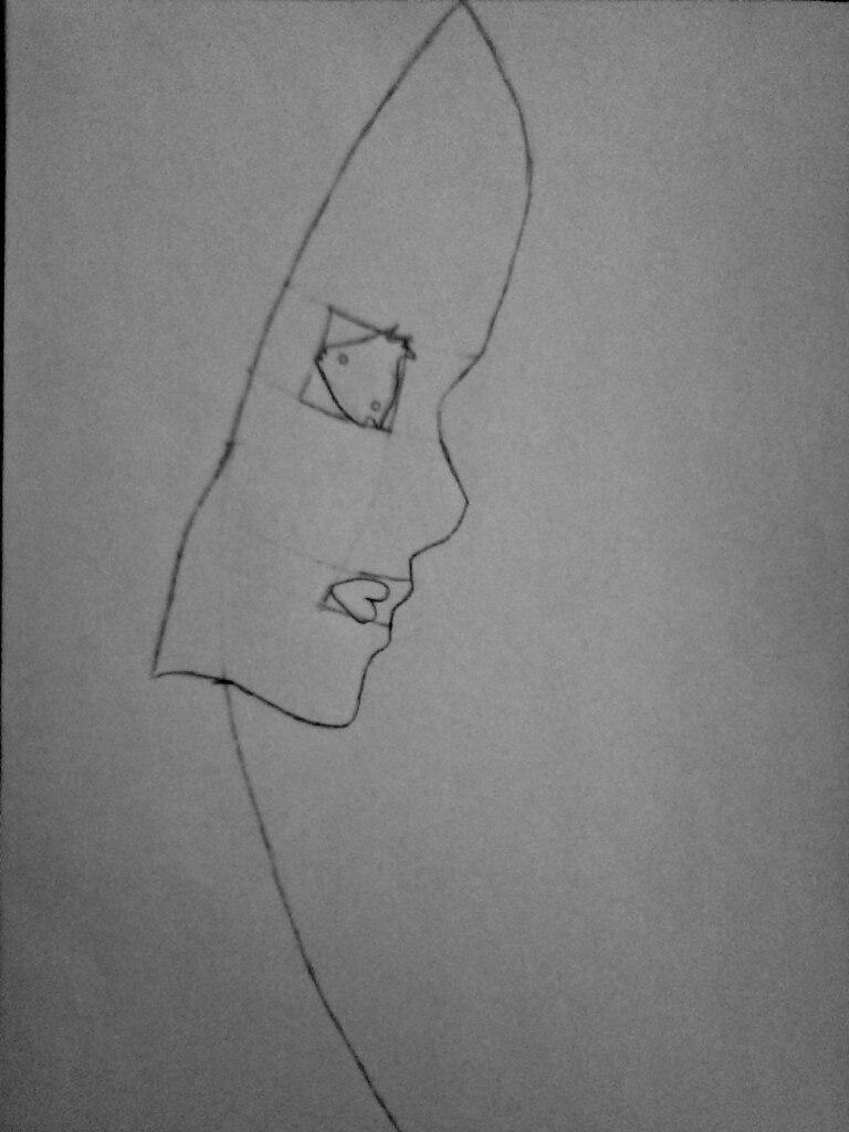 Как нарисовать убийцу Джейн карандашом поэтапно - шаг 3