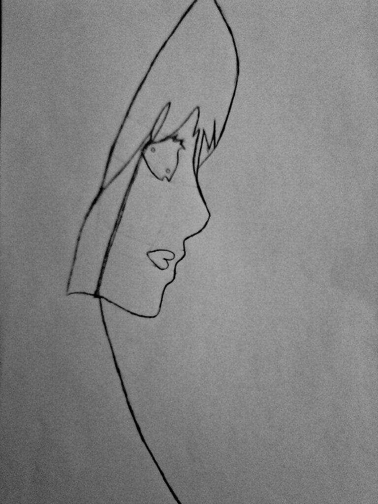 Как нарисовать убийцу Джейн карандашом поэтапно - шаг 4