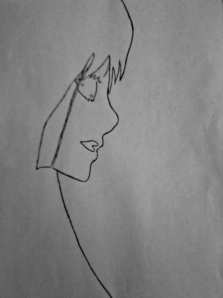 Как нарисовать убийцу Джейн карандашом поэтапно - шаг 5