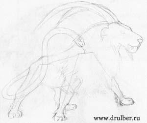 Как нарисовать Химеру карандашом поэтапно