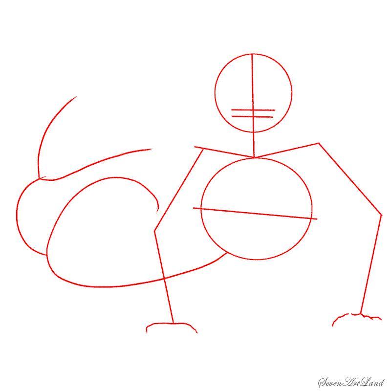 Как научиться рисовать речную русалку - шаг 1