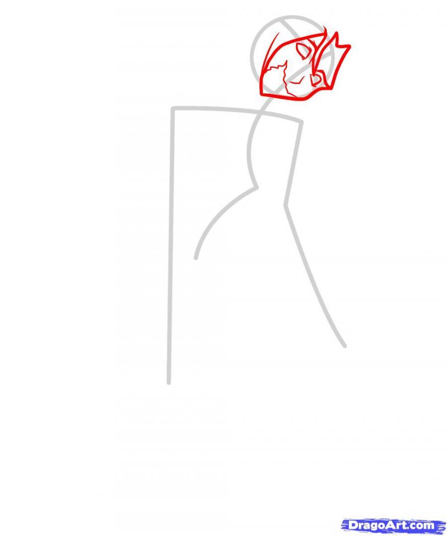 Как рисовать девушку зомби