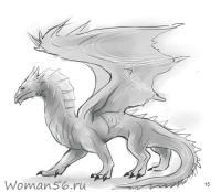 Как рисовать дракона карандашом поэтапно