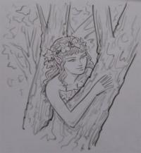Как рисовать Дриаду карандашом