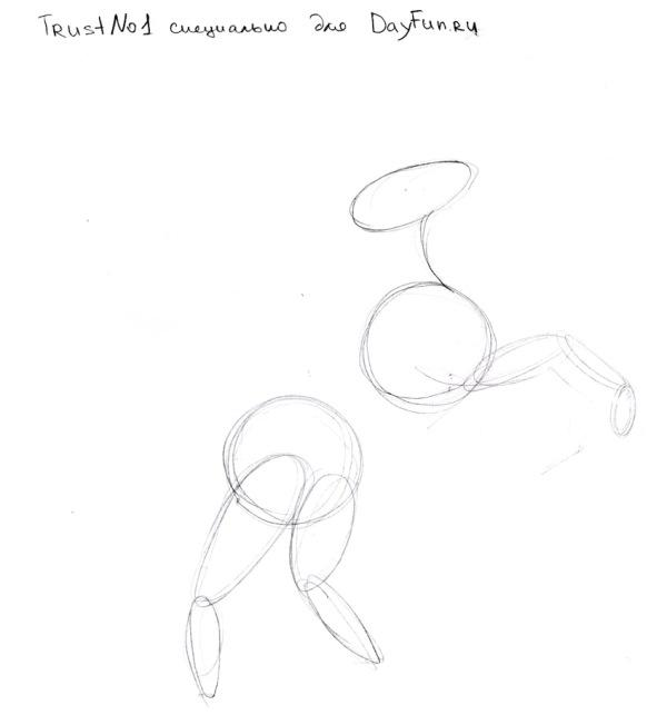 Рисуем единорога карандашами - шаг 1