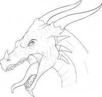 Как рисовать голову дракона