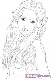 Как рисовать Эльфийку, Поэтапное рисование эльфийки