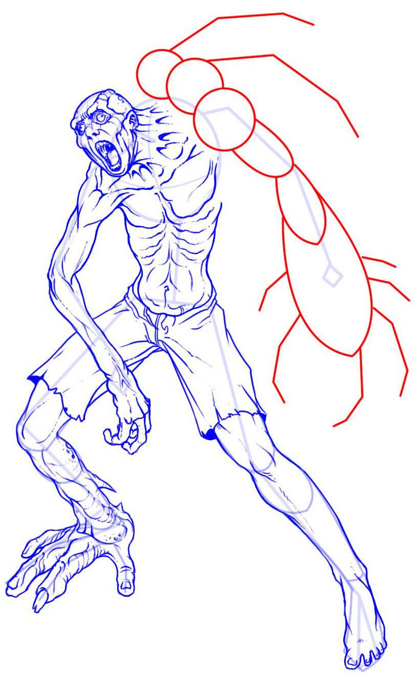 Рисуем трехрукого мутанта
