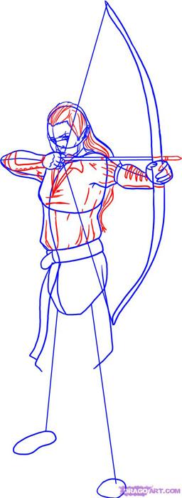 Рисуем эльфа - лучника для начинающих - фото 4
