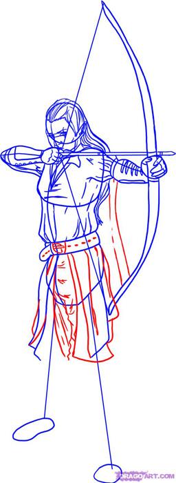 Рисуем эльфа - лучника для начинающих - фото 5