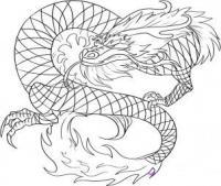 Рисуем красного китайского дракона
