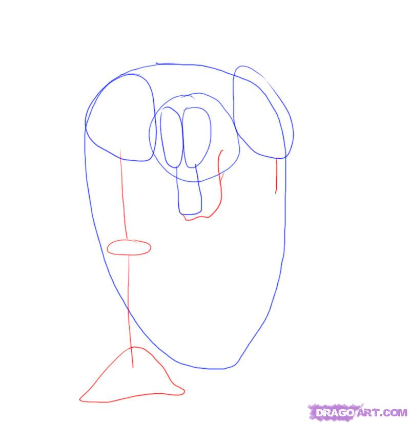 Рисуем оборотня карандашами - шаг 3