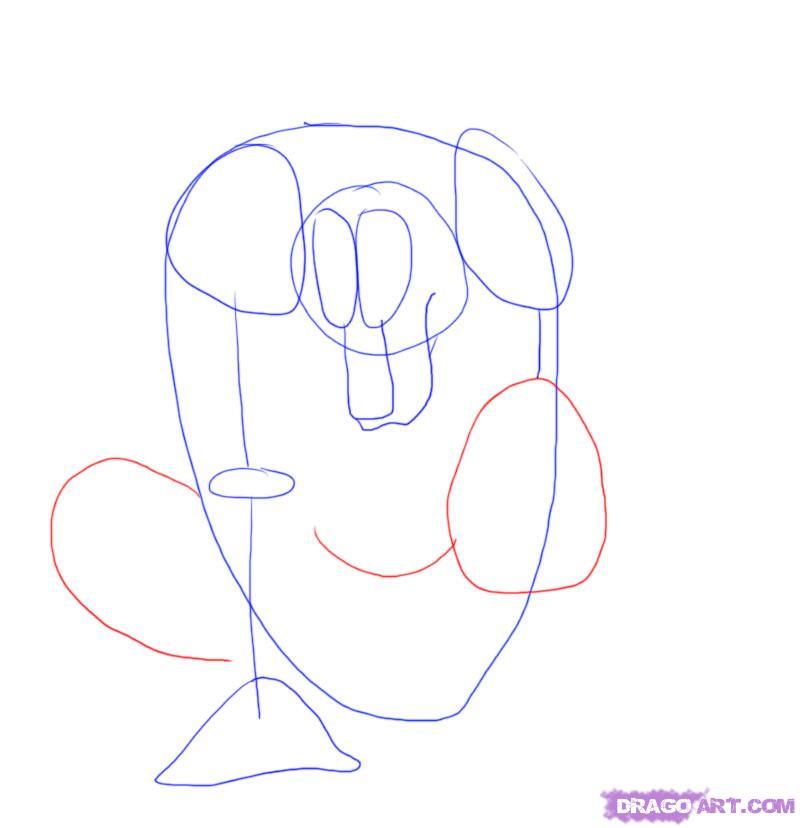 Рисуем оборотня карандашами - шаг 4