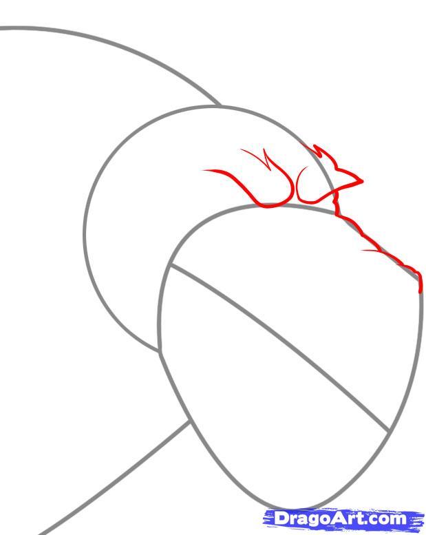 Рисуем голову оборотня - шаг 2