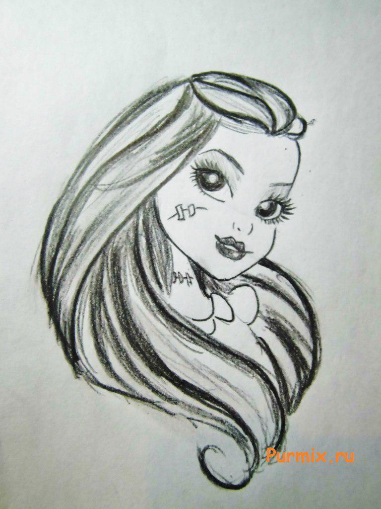 Рисуем портрет Фрэнки Штейн - шаг 6